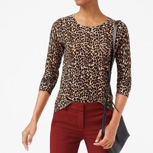 NEW NWT J. Crew Factory Leopard Teddie Sweater